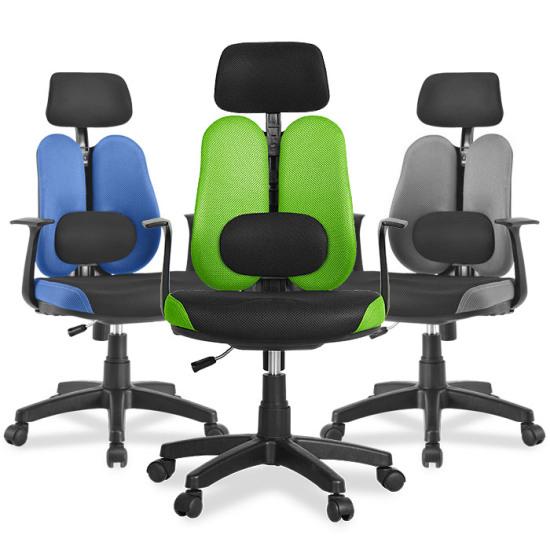 Кресло с двойной спинкой и поясничным валиком Sinif Duo Gini